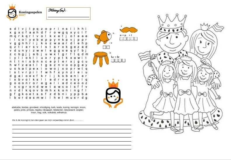 Placemat Voor De Koningsspelen Met Afbeeldingen Placemats