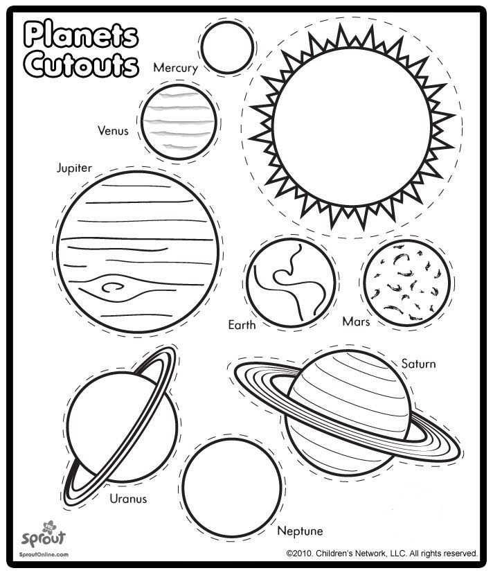 Planeten Om Uit Te Knippen Planets Cutouts Planeten Download