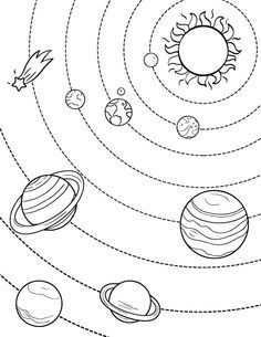 planeten zonnestelsel kleurplaat
