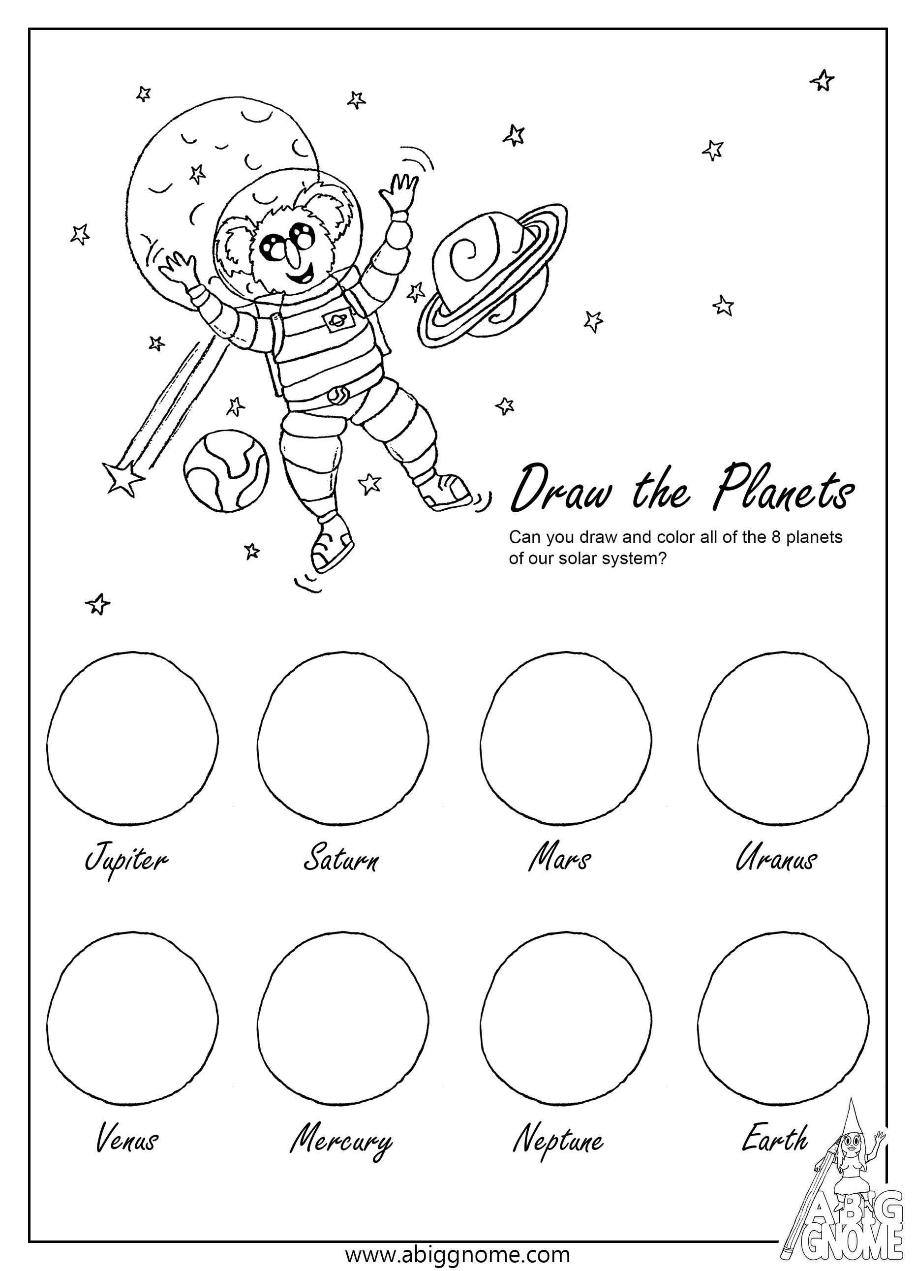 Kleurplaten With Images Planets Activities Astronaut