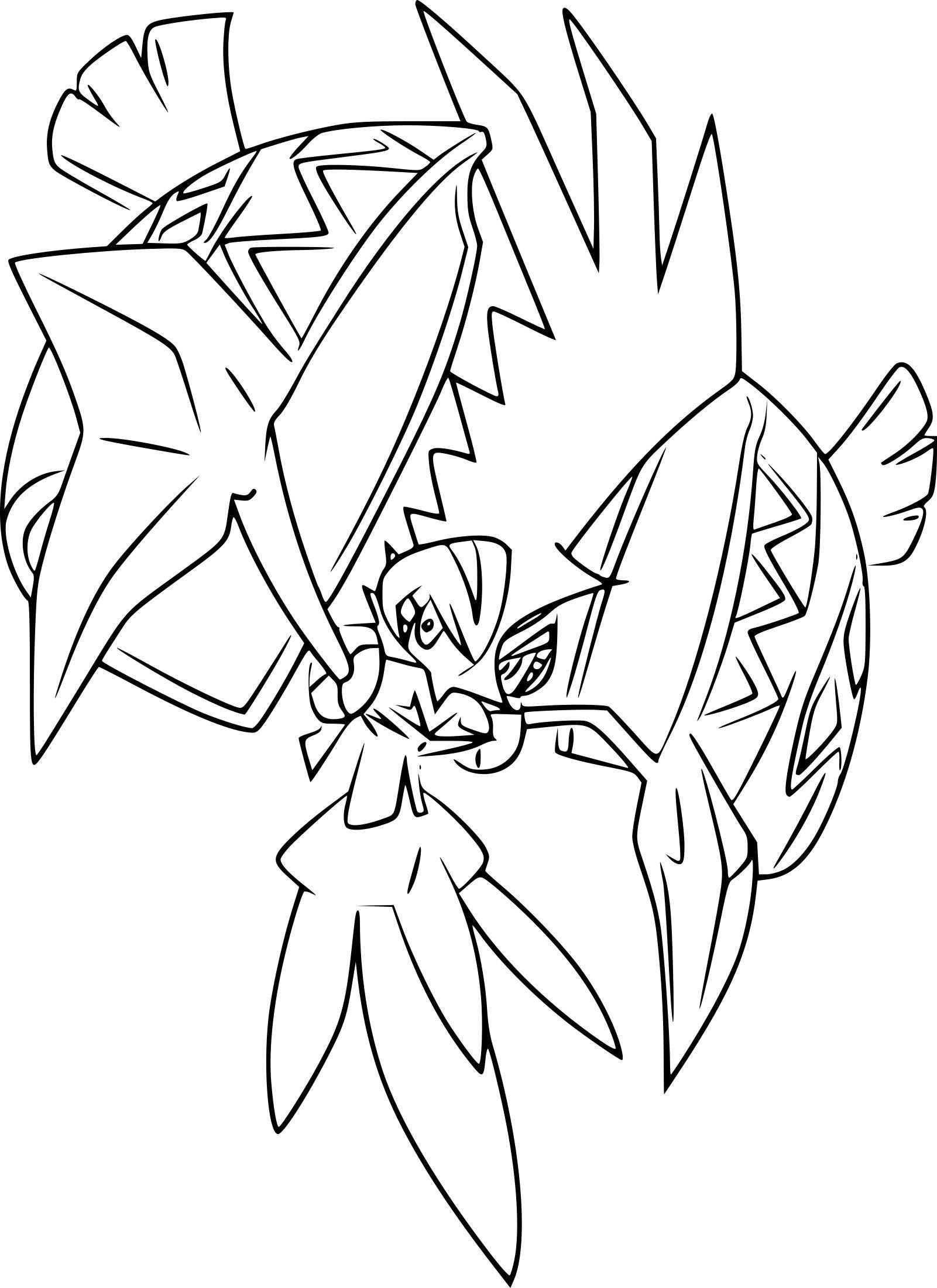 Pokemon Coloring Pages Tapu Koko Met Afbeeldingen Kleurplaten