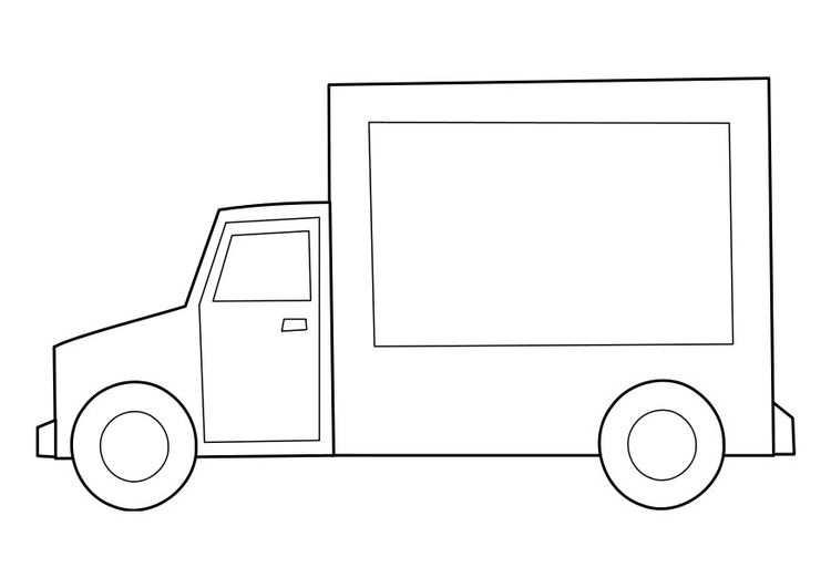 Kleurplaat Vrachtwagen Met Afbeeldingen Kleurplaten Gratis