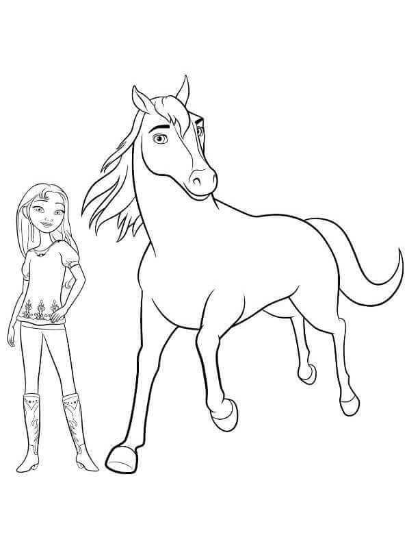 15 Printable Spirit Riding Free Coloring Pages With Images