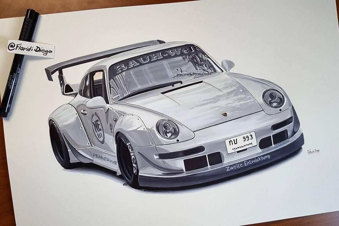 Chin S Car Rwbthailand No 1 Drawn By Cardrawingbyflorididiego