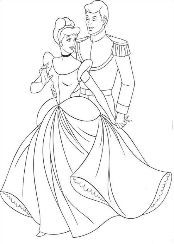 Print Assepoester En De Prins Kleurplaat Princess Coloring Pages