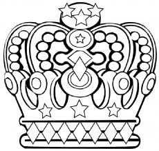 Kleurplaat Kroon Koninginnedag Coloring Pages Crown Drawing
