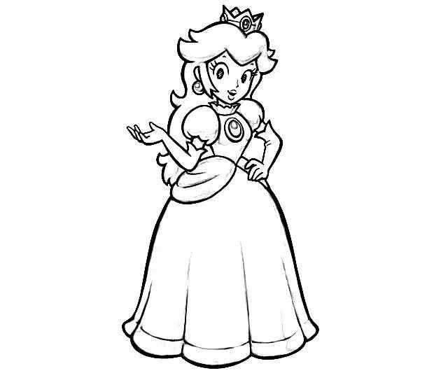 Mario Coloring Page Princess Coloring Pages Mario Coloring