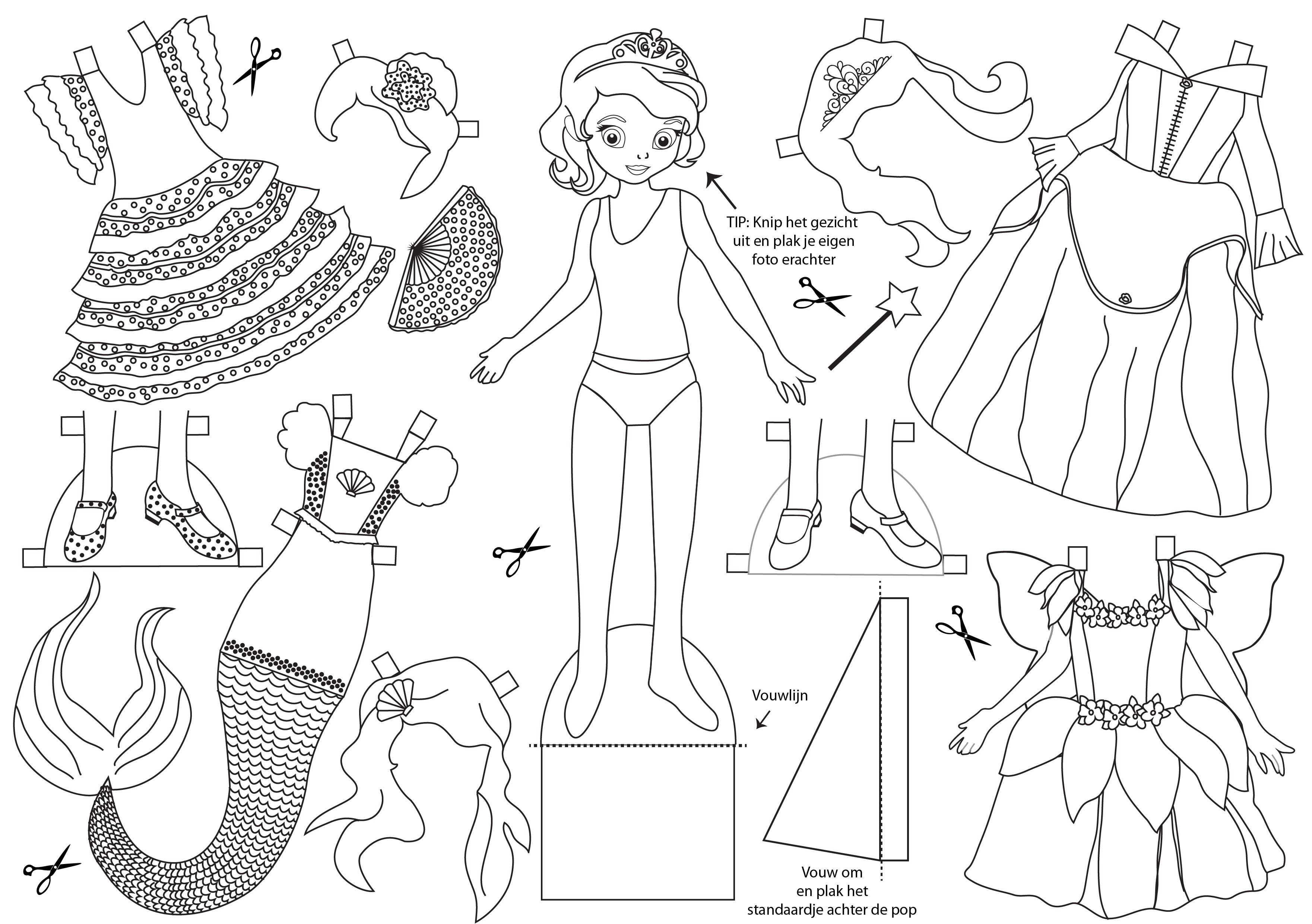 prinsessen jurk kleurplaat