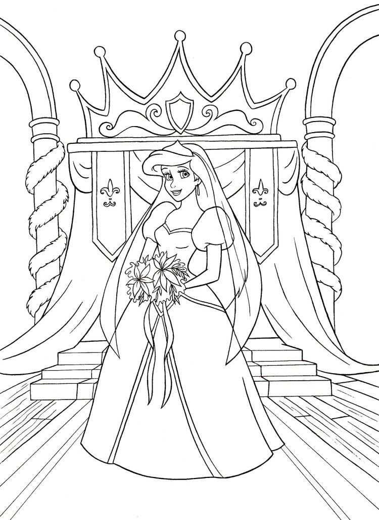 Walt Disney Coloring Pages Princess Ariel Disney Prinzessin