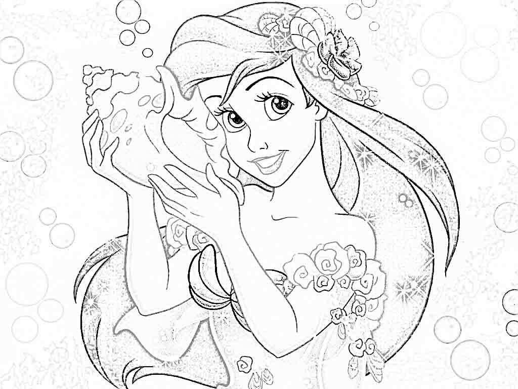 Disney Princess Coloring Pages Ariel Colorine Net 20276