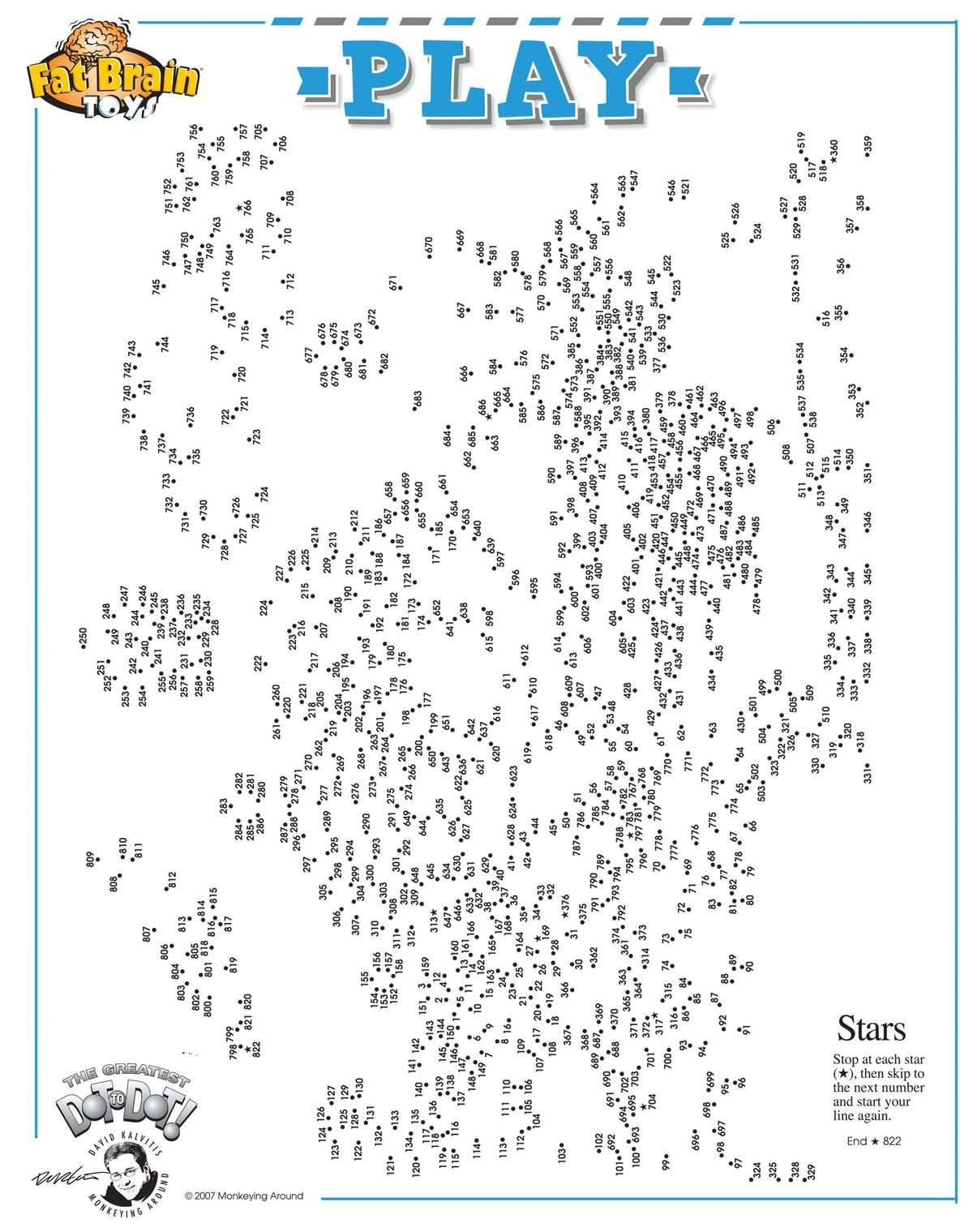 The Greatest Dot To Dot Free Printable Activity Hard Dot To
