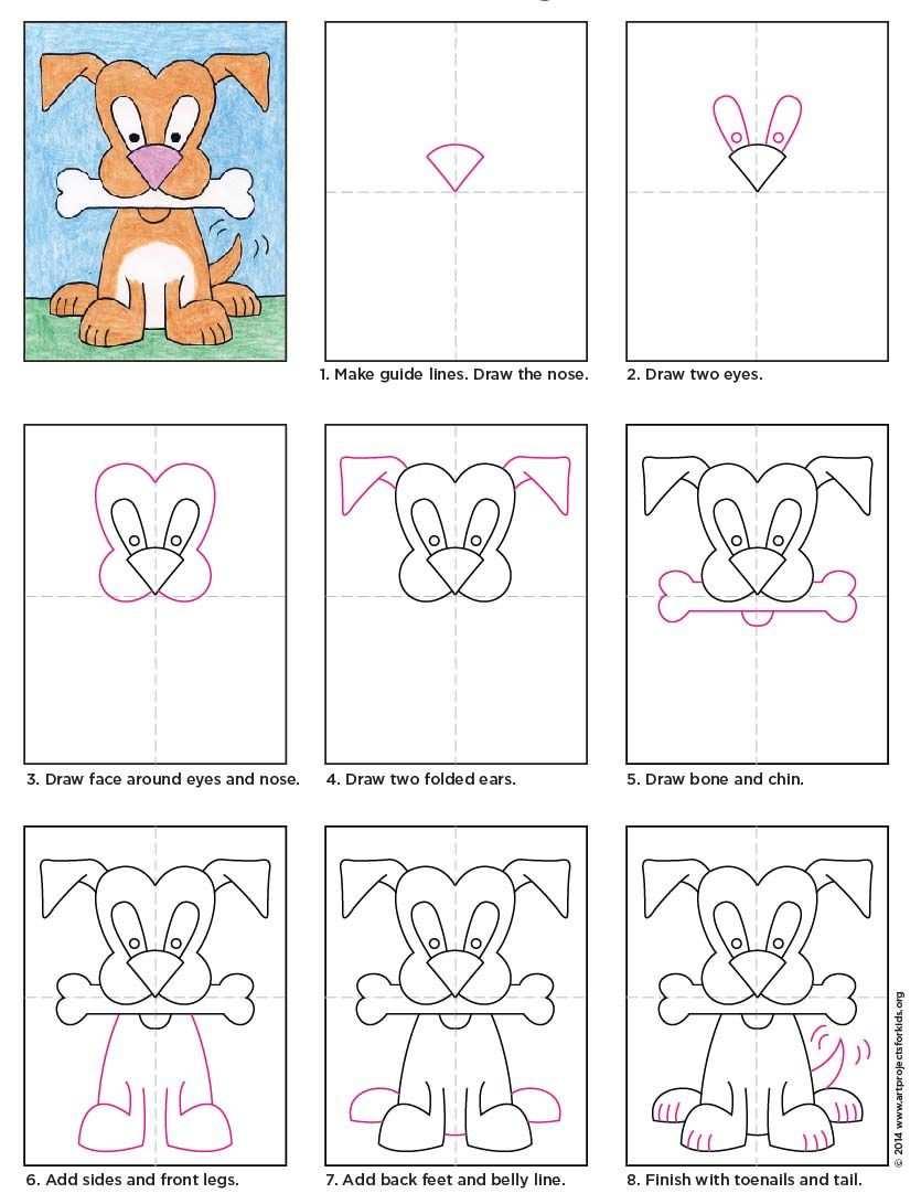Cartoon Dog Diagram Met Afbeeldingen Eenvoudige Tekeningen