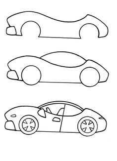 Makkelijk En Snel Een Auto Tekenen Met Afbeeldingen Leer