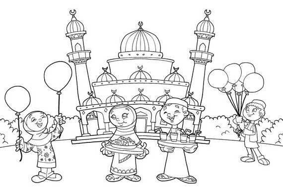 Eid Al Adha Islam Coloring Pages Dengan Gambar Halaman