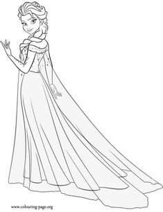 Fresh Coloring Pages Queen Elsa Free With Images Princess