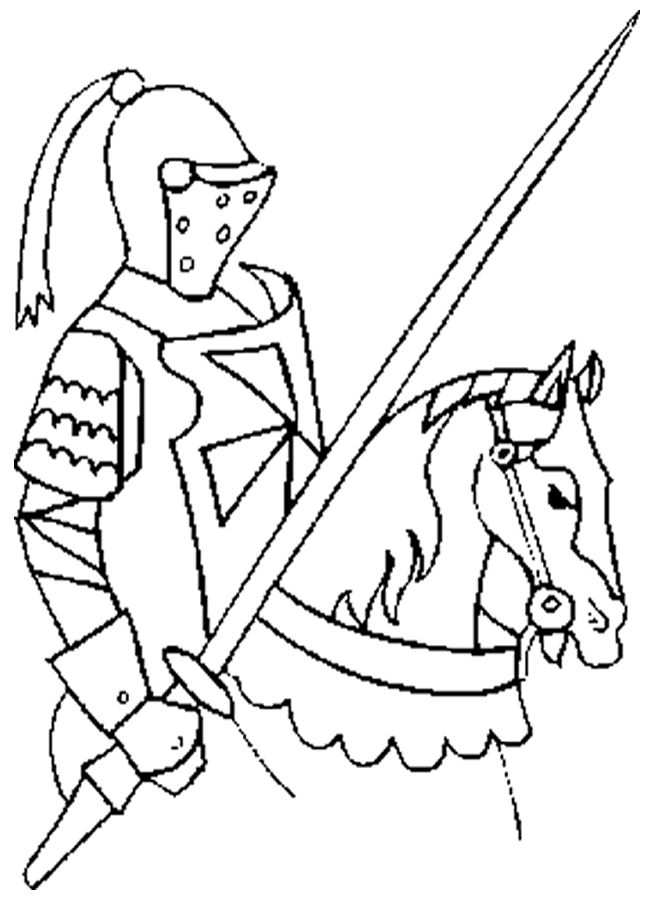 Knight Ready For Battle Ridders Kinderen