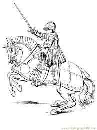 Printable Knight On Horseback Ridders Kleurplaten Volwassen