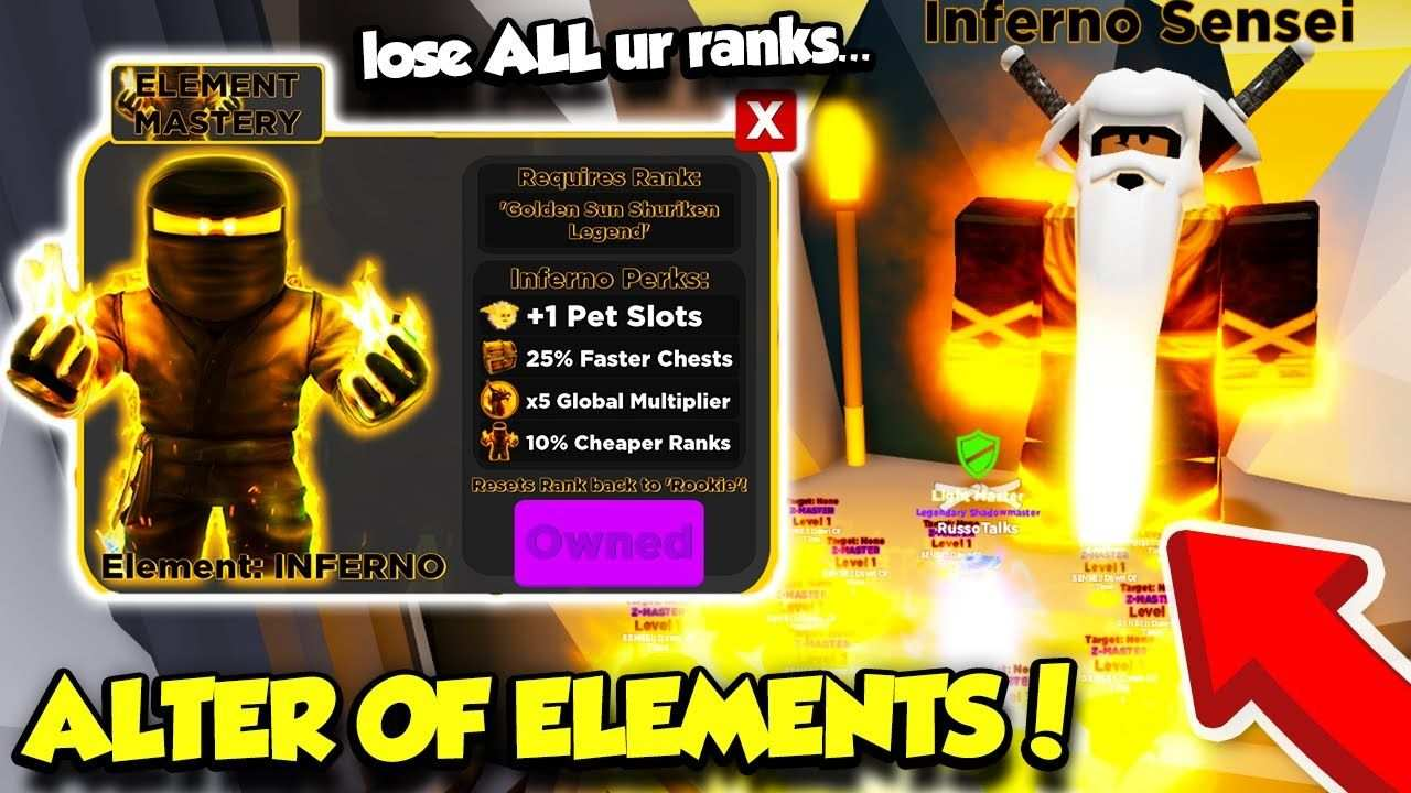Mastering The Elements In The Alter Of Elements Ninja Legends