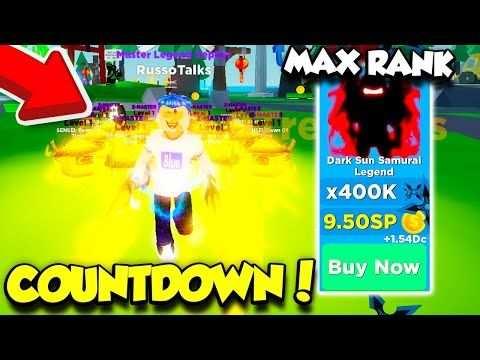 I Got The New Max Rank In Ninja Legends Countdown Update Roblox