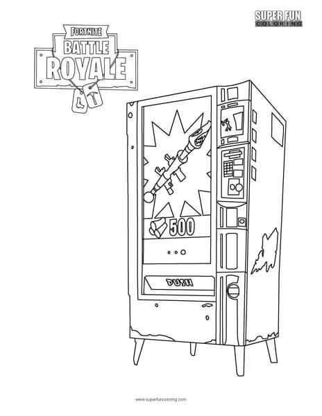 Fortnite Vending Machine Coloring Page Coloring Pages For Boys