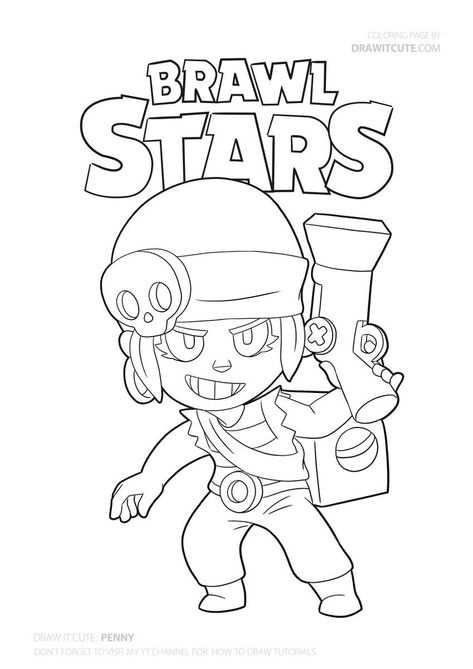 Penny From Brawl Stars Brawl Brawlstars Draw Drawings Howto