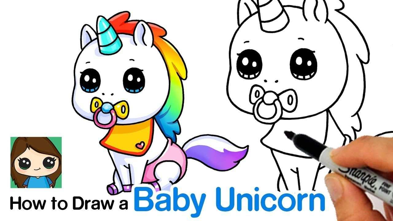 How To Draw A Baby Unicorn Unstable Unicorns Youtube