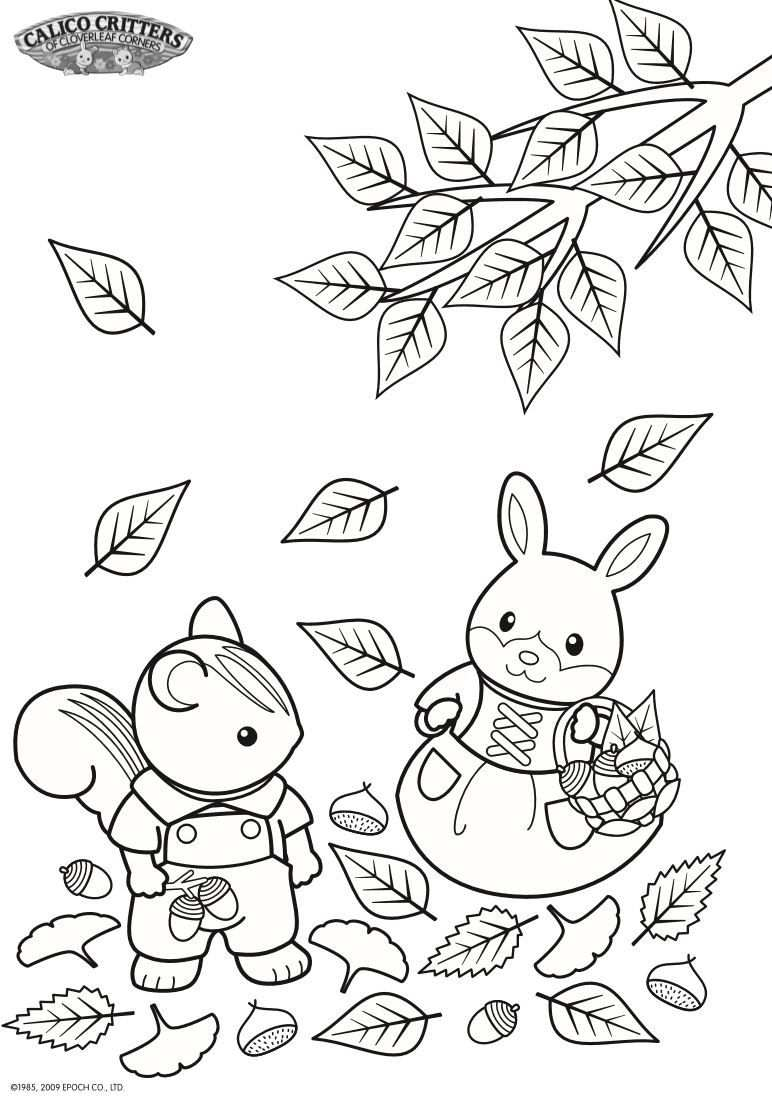 17 Coloring Pages Of Calico Critters Family Coloring Pages
