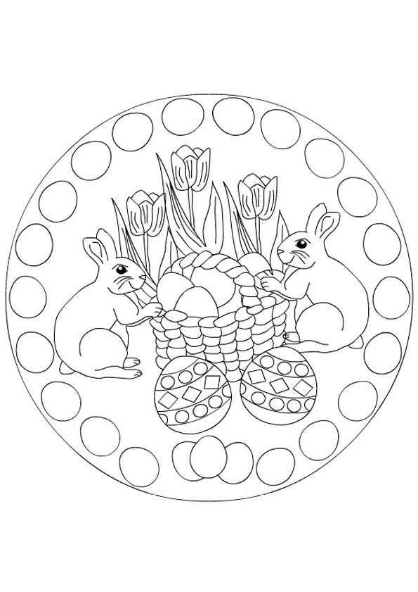Mandala Kleurplaten With Images Easter Coloring Pages Mandala