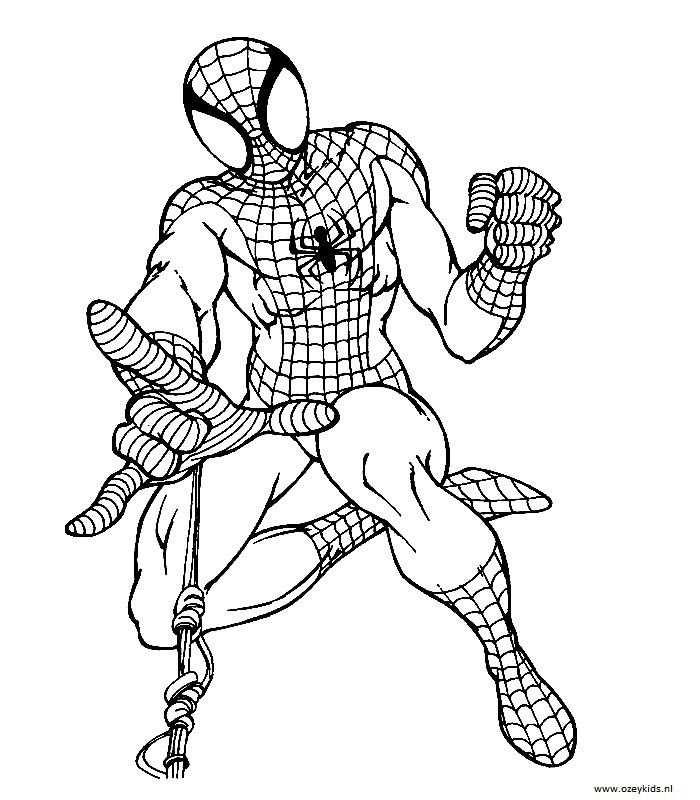 Spiderman Kleurplaten