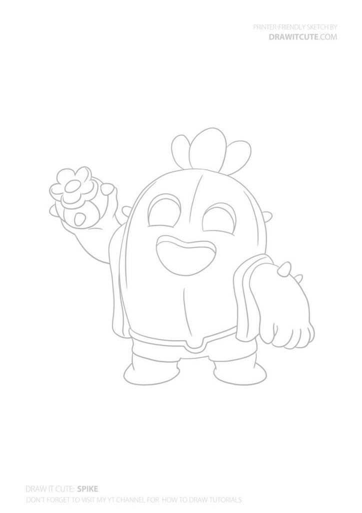 How To Draw Spike Super Easy Desenho Desenhos Desenhos Para