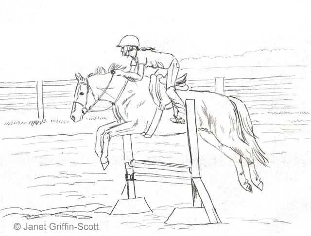 Pencils Ready Draw A Jumping Show Horse Teckning Hastar