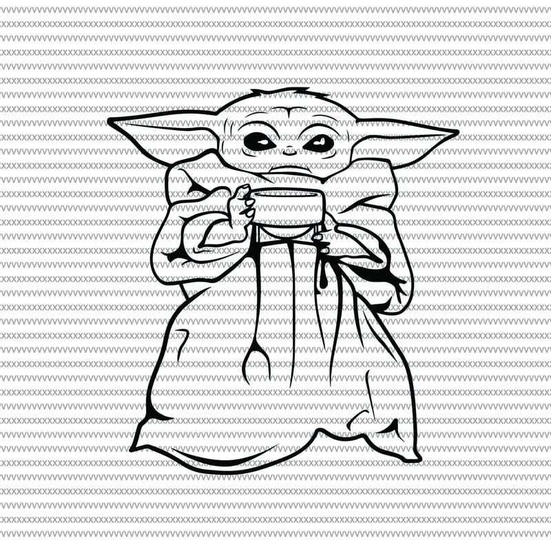 Star Wars Baby Yoda Kleurplaat