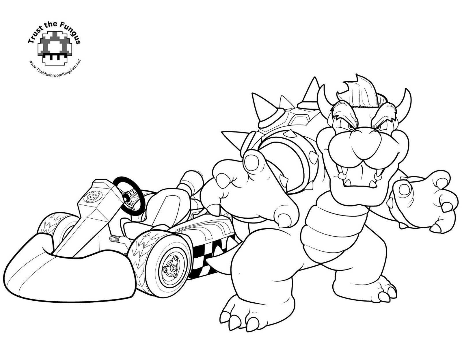 Bowser Jpg With Images Super Mario Coloring Pages Mario