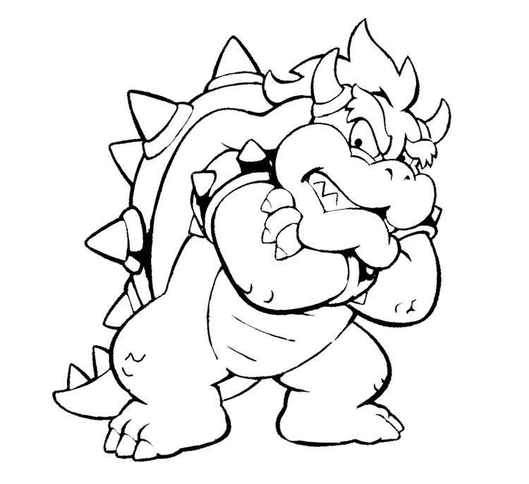 Bowser Coloring Pages Mario Coloring Pages Super Coloring Pages