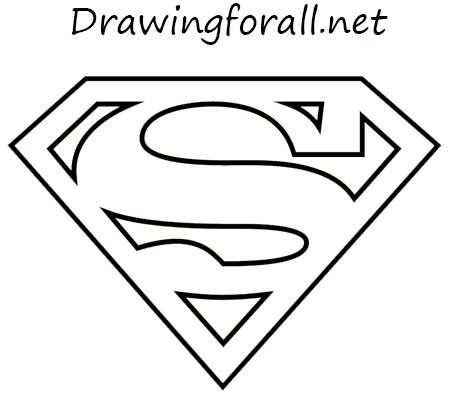 How To Draw The Superman Logo Superhelden Kleurplaten Sjablonen