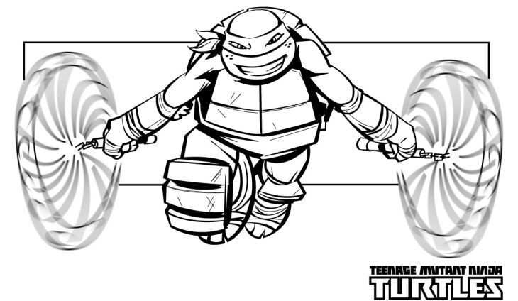 Free Printable Michelangelo Tmnt Coloring Pages For Kids Online