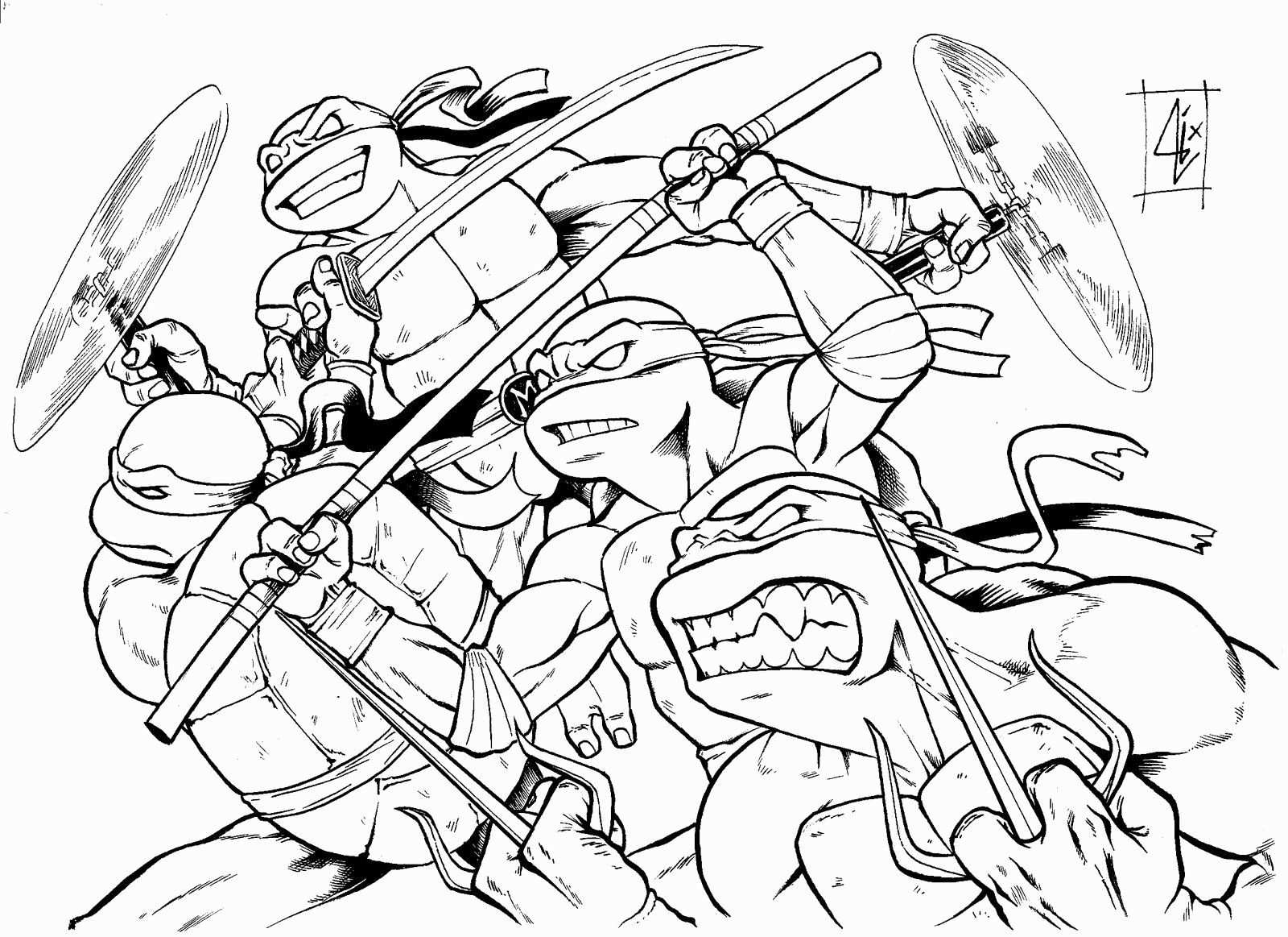 Teenage Mutant Ninja Turtles Coloring Book Inspirational