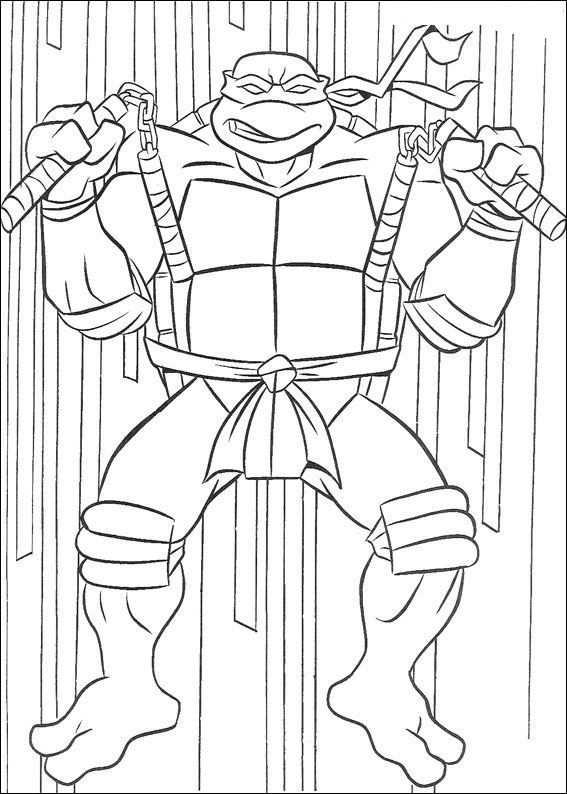 Print Ninja Turtles Kleurplaat Kleurplaten Superhelden Ninja