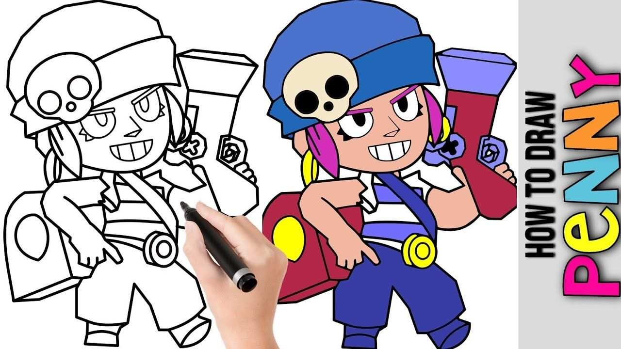 How To Draw Penny From Brawl Stars Cute Easy Drawings Tutorial