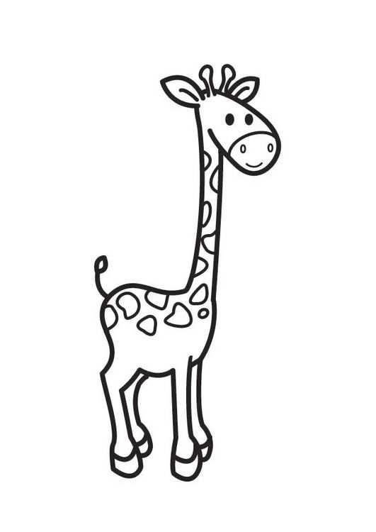 Kleurplaat Giraf Kleurplaten Giraffe Tekening Giraffe Knutselen