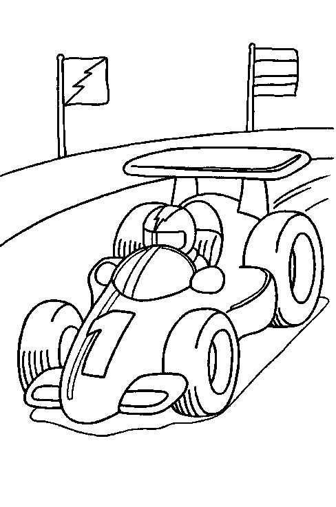Kids N Fun Racewagen Kleurplaten Kleurboek Kinderen Kleuren