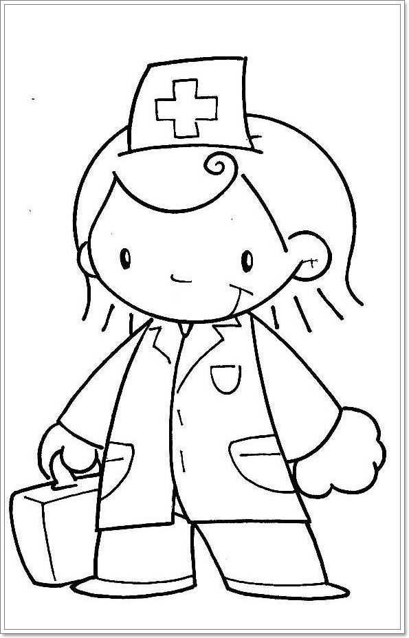 Kleurplaat Verpleegster Met Afbeeldingen Verpleegster