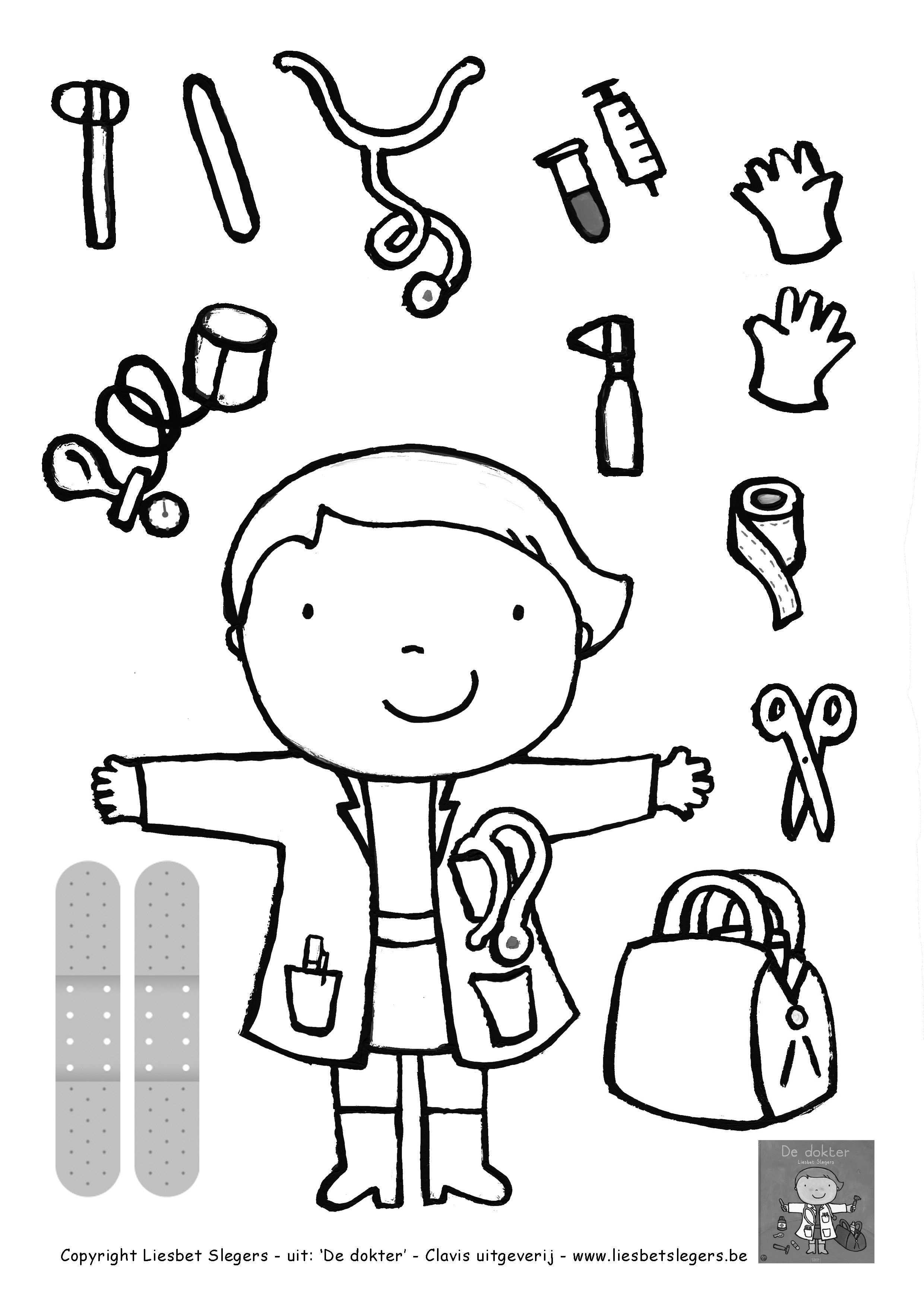 Kleurplaat Dokter Google Zoeken Thema Knutselen Thema Ziek