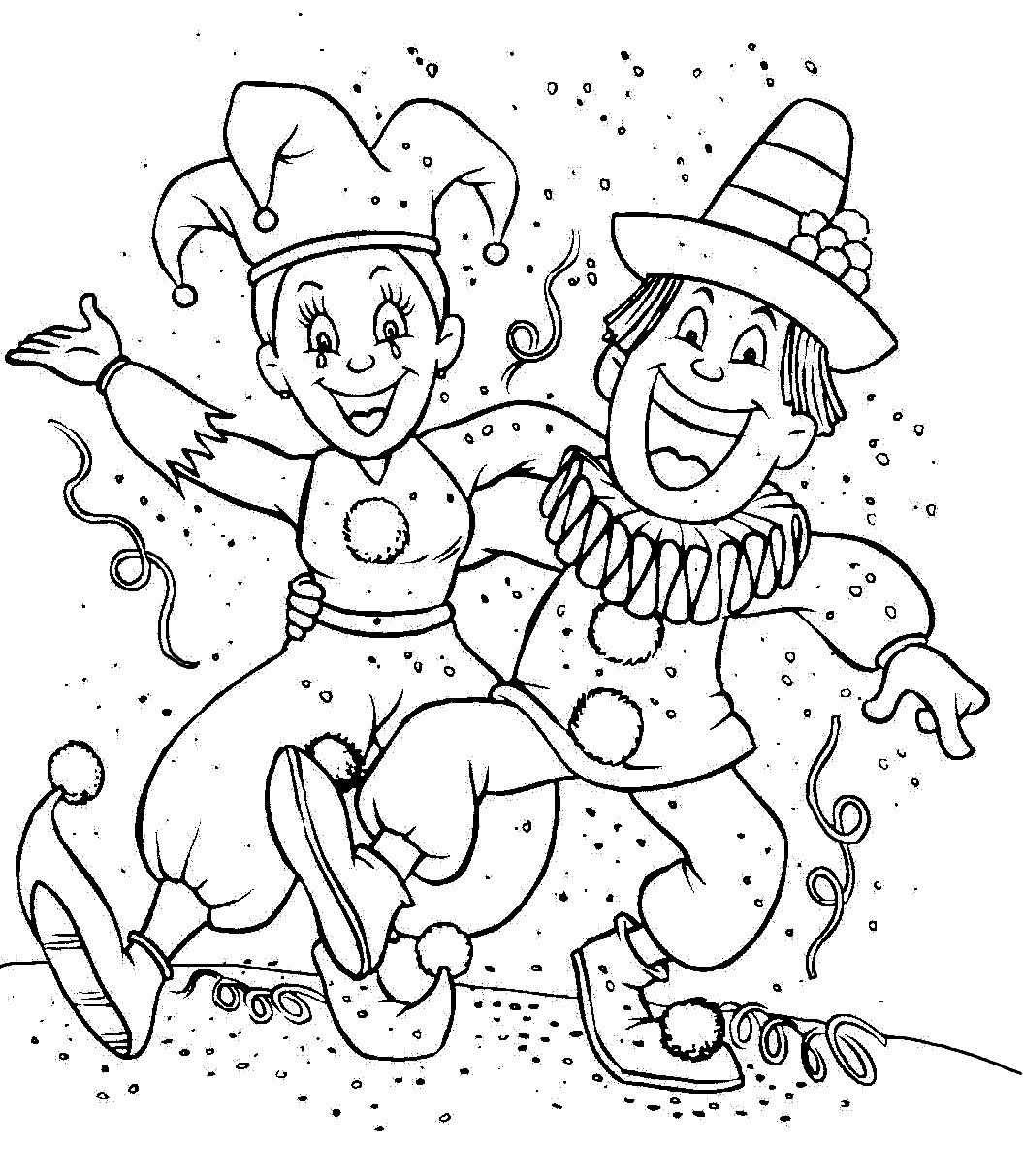 Afbeeldingsresultaat Voor Carnaval Colouring Pages Kleurplaten