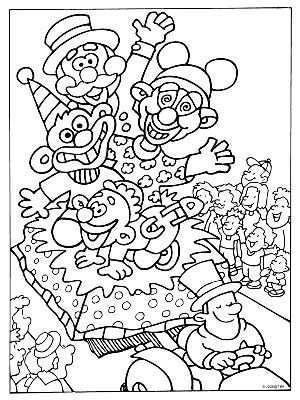 Kleurplaat Kleurplaten Carnaval En Kleurboek
