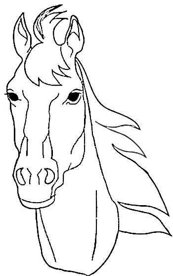 Horse Coloring Pages Kleurplaten Paard Silhouet Paardenhoofd