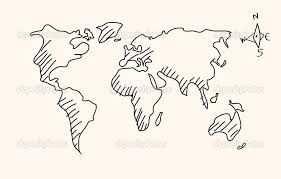 Afbeeldingsresultaat Voor Wereldkaart Tekenen Kaart Illustraties