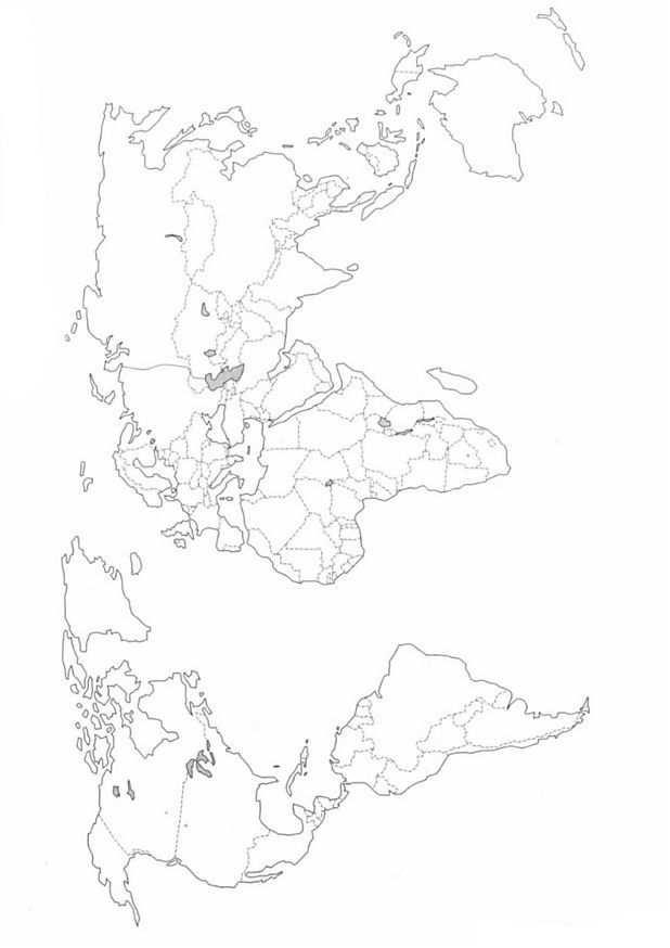 Kleurplaat Landkaarten Landkaart Wereld Landkarte Ausmalbilder
