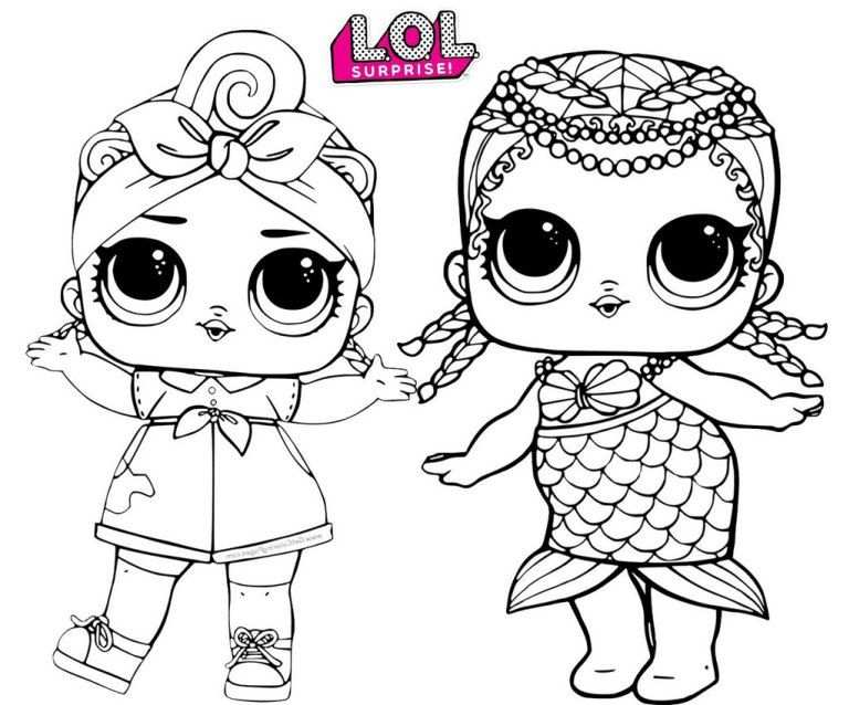 Merbaby Mermaid And Can Do Baby Lol Surprise Coloring Page Met
