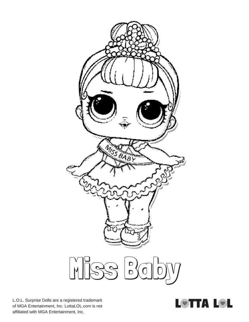 Miss Baby Coloring Page Lotta Lol Kleurplaten Kleuren Tekenen